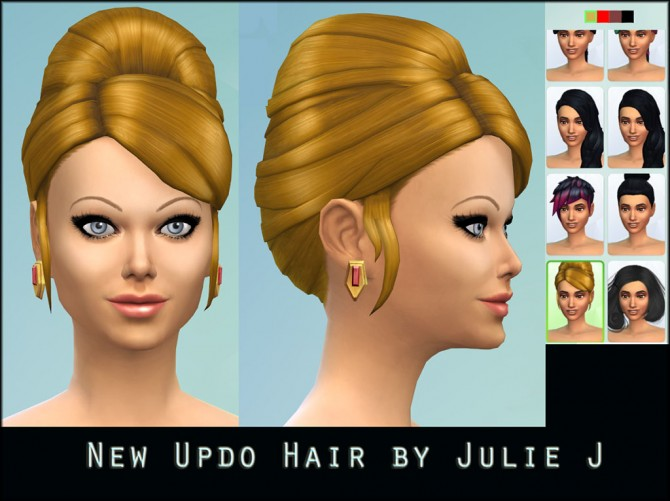 Higher Updo Hair for Females by Julie J at Mod The Sims image 4814 Sims 4 Updates