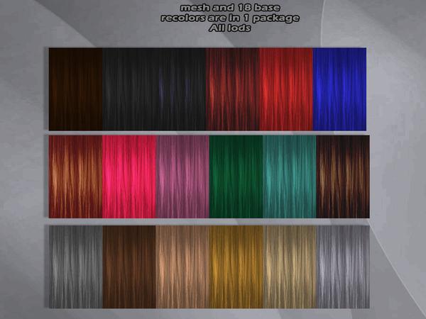 Scarlet hair non crash edit at Sintiklia Sims image 4820 Sims 4 Updates