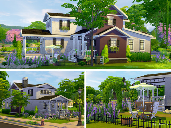 Lavender road medium house by lhonna at tsr sims 4 updates for Medium houses