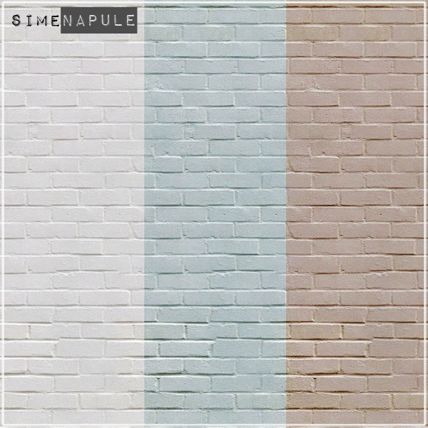 3 Light Brick Walls At Simenapule Sims 4 Updates