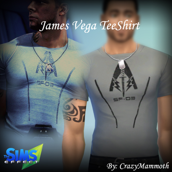 Sims 4 James Vega's Alliance Special Forces T Shirt at Crazy Mammoth