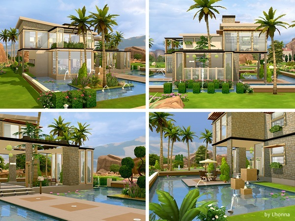 Sims 4 Eco View house by Lhonna at TSR