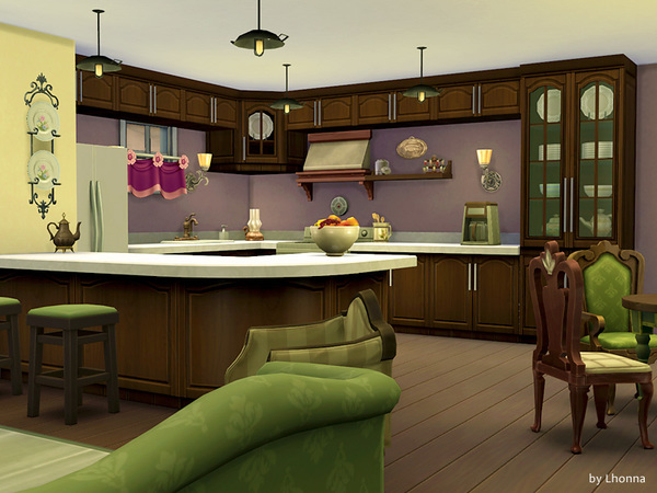 Sims 4 Lavender Road medium house by Lhonna at TSR