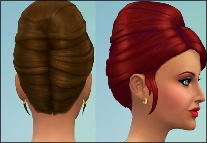 Higher Updo Hair for Females by Julie J at Mod The Sims image 5120 Sims 4 Updates