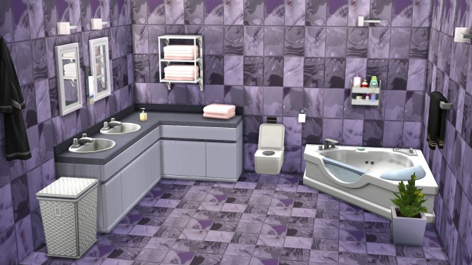 Matching glass mosaic tiles floor by malicieuse75 at Mod The Sims image 5124 Sims 4 Updates