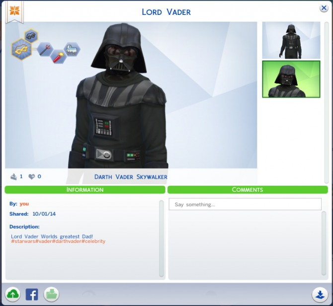 Sims 4 Lord Vader at Crazy Mammoth