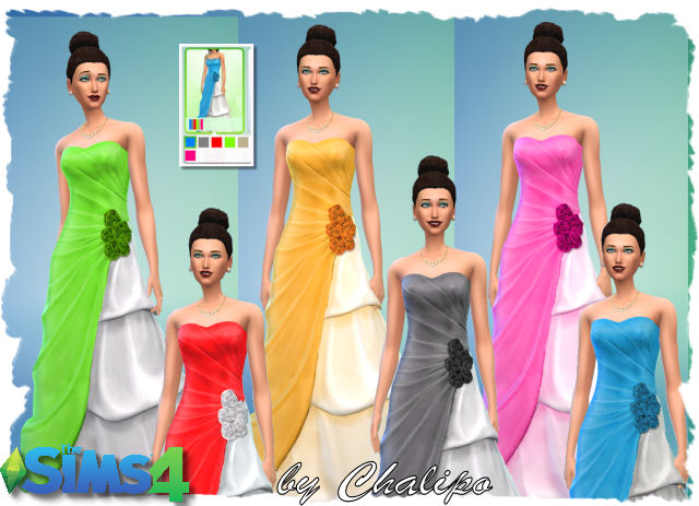 Tee for males and 2 dresses by Chalipo at All 4 Sims image 5291 Sims 4 Updates