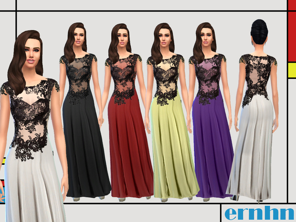 Sims 4 Laced Gown by Ernhn at TSR