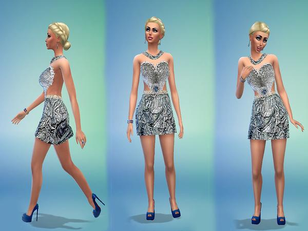 Sims 4 Million Dollars Dress by monopolistic at TSR