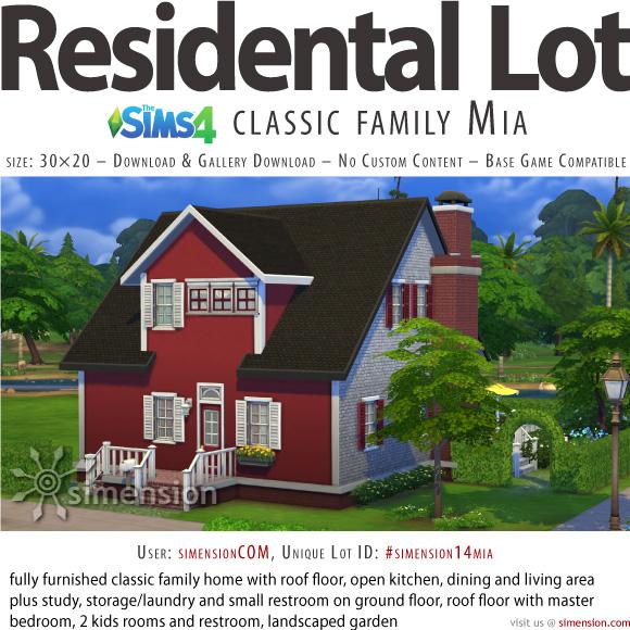 Sims 4 Classic Family Mia at Simension