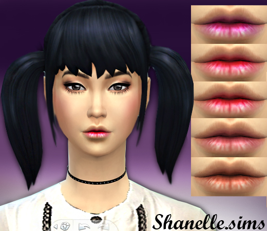Basic lips in 5 shades at Shanelle Sims image 53111 Sims 4 Updates