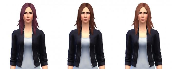 Sims 4 Long rocker hair recolors at Busted Pixels