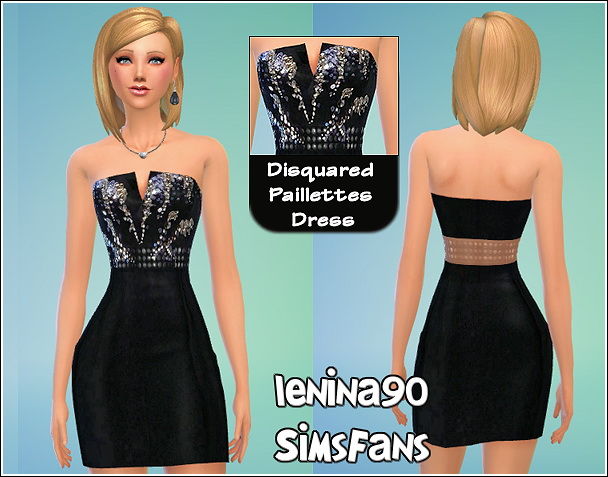 Dsquared pailletes dress by lenina 90 at Sims Fans image 537 Sims 4 Updates