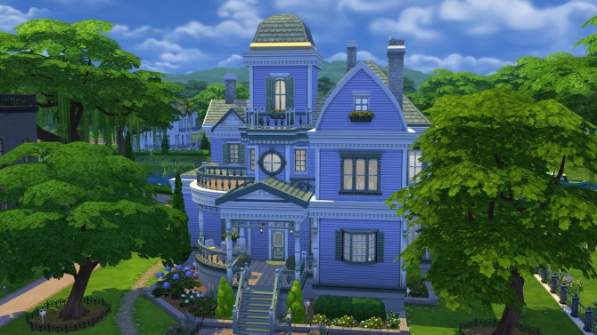 Sims 4 Lilac Lane home at Simply Ruthless