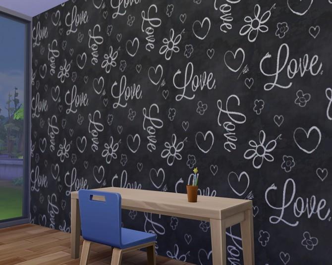 Chalkboard Walls At Matt In Simblrland 187 Sims 4 Updates