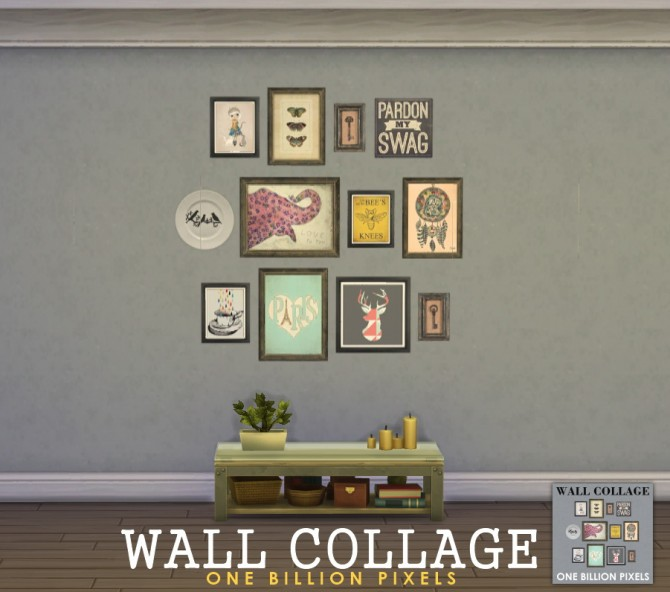 Sims 4 Wall Collage at One Billion Pixels