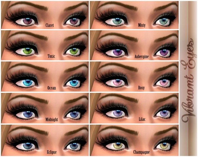Sims 4 Vibrant Eyes by Shady at Mod The Sims