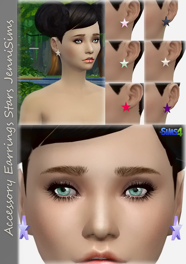 Star Earrings At Jenni Sims 187 Sims 4 Updates