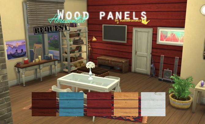 Sims 4 Wood Panels Horizontal version at In a bad Romance