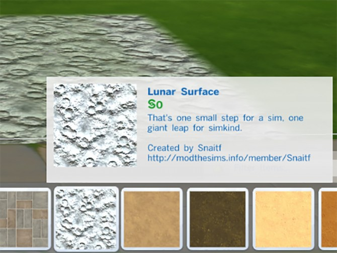 Lunar Surface Terrain Paint by Snaitf at Mod The Sims image 59 Sims 4 Updates