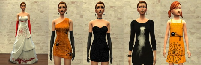 HAPPY HALLOWEEN dresses at Sims Artists image 59131 Sims 4 Updates