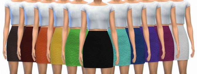 Sims 4 High Waisted Leather Skirts at ThatMalorieGirl