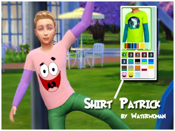 Spongebob Sweatshirts by Waterwoman at Akisima image 599 Sims 4 Updates