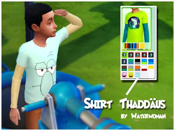 Spongebob Sweatshirts by Waterwoman at Akisima image 6011 Sims 4 Updates