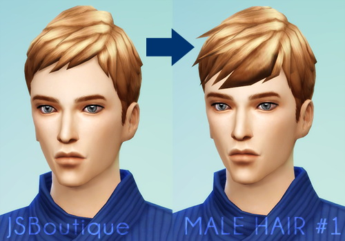 Male Hair 1 At Jsboutique 187 Sims 4 Updates