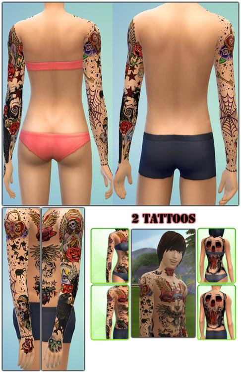 Old School Tattoos Skull Tattoo At Gefa Sims 187 Sims 4