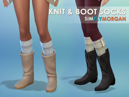 Boot & Knit Socks at Simply Morgan image 611 Sims 4 Updates