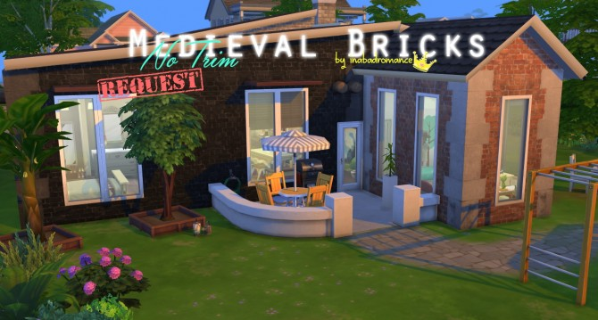 Sims 4 Medieval Bricks No Trim version at In a bad Romance