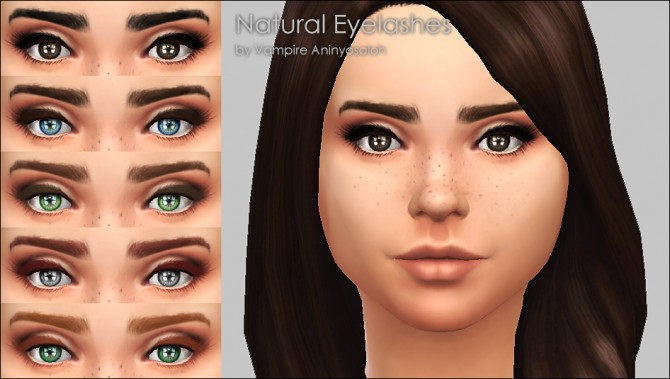 Natural Eyelashes 5 Colors by