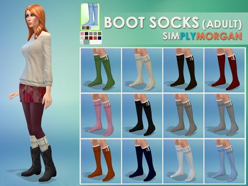 Boot & Knit Socks at Simply Morgan image 621 Sims 4 Updates