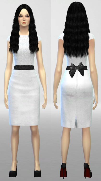 Sims 4 Simple Dress at Nekros