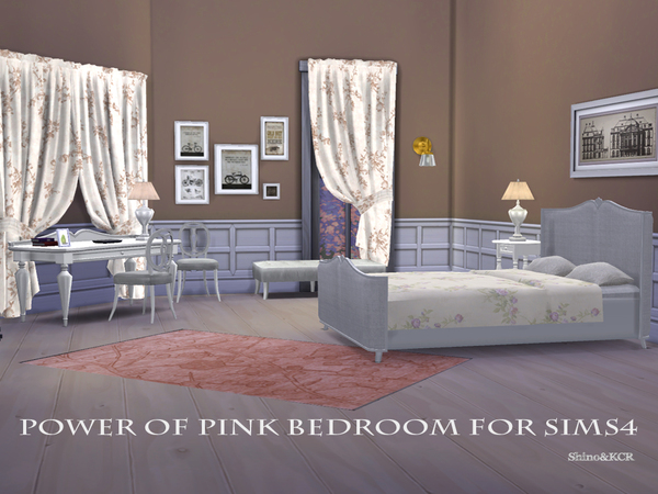 Power of Pink Bedroom by ShinoKCR at TSR image 6217 Sims 4 Updates