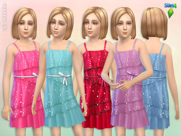 Square Sequin Dress by lillka at TSR image 628 Sims 4 Updates