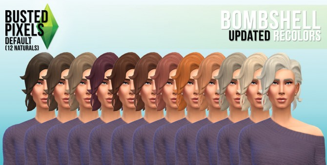 Sims 4 More hair recolors at Busted Pixels