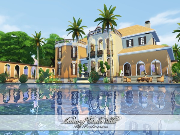 Sims 4 Luxury Town Villa by Pralinesims at TSR