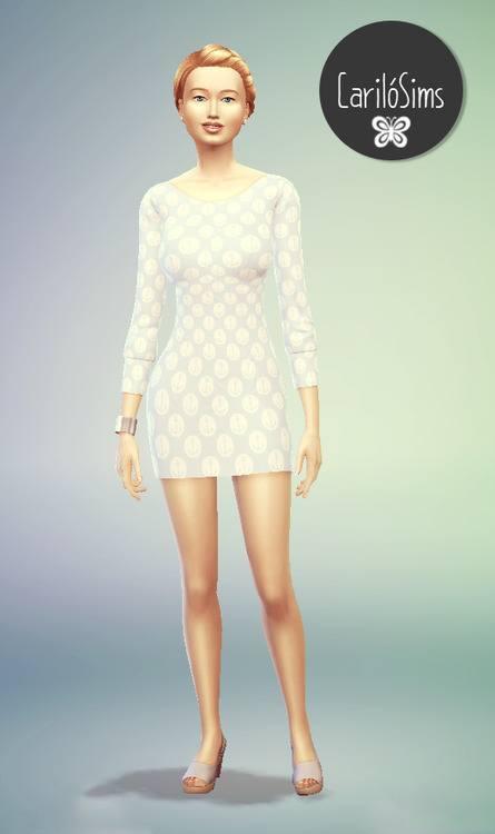 Sims 4 Sea dress at Cariló Sims