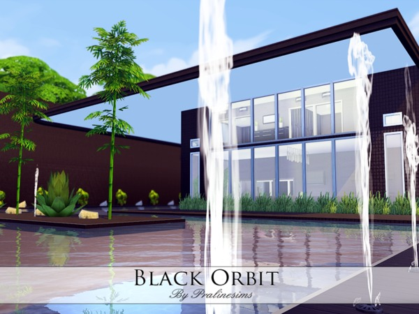 Black Orbit house by Pralinesims at TSR image 65101 Sims 4 Updates