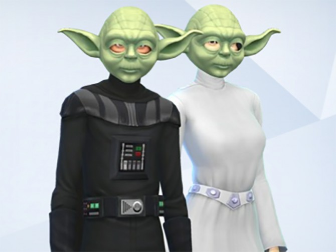 Sims 4 Yoda Mask by Snaitf at Mod The Sims