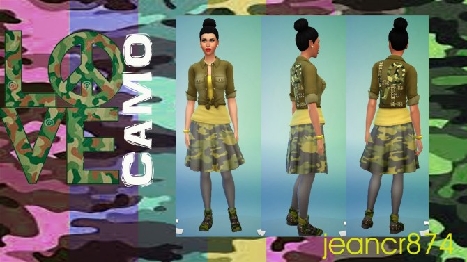 Sims 4 Love Camo FW14/15 set at La Boutique de Jean