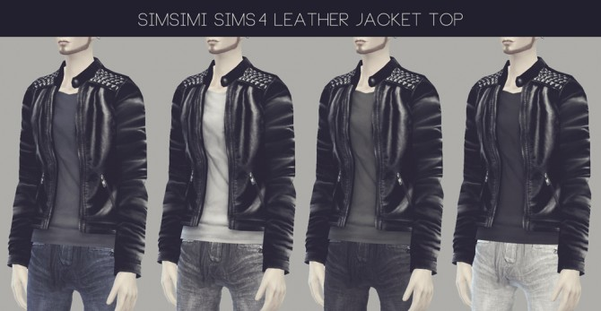 Sims 4 LEATHER JACKET at Simsimi only mine