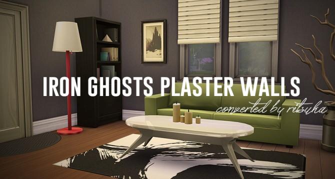 Sims 4 Iron Ghosts Plaster Walls at Ritsuka