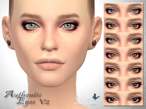 Authentic Eyes V2 by Ms Blue at TSR image 6891 Sims 4 Updates