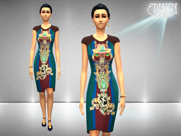 Sims 4 Cocktail Chick dress + shoes by ernhn at TSR