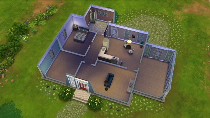 Bowed Roof Cape Cod Starter House At Jenba Sims Sims 4