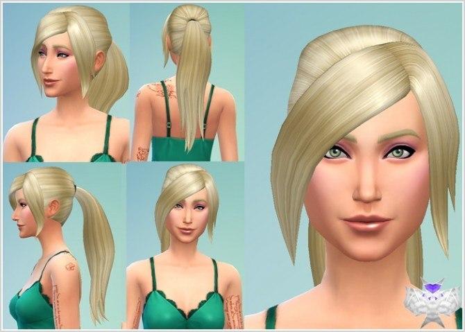 Sims 4 Long Ponytail hair at David Sims