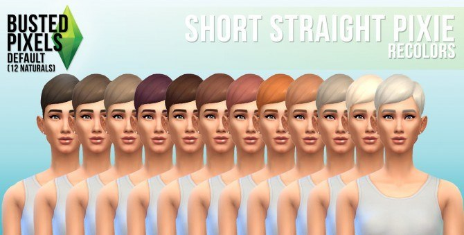 Sims 4 4 hair recolors at Busted Pixels